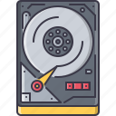 computer, data, disk, hard, hdd, information, technology icon