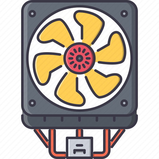 computer, cooler, data, fan, information, technology icon