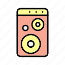 computer, device, pc, woofer icon