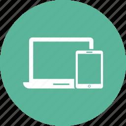 devices, imac, ipad, iphone, laptop, monitor, respons icon