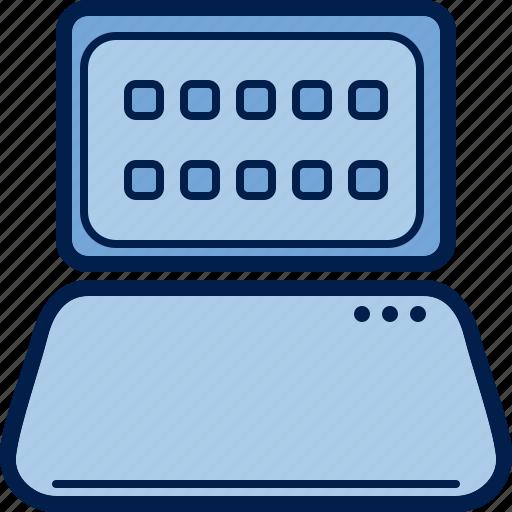 computer, display, hardware, keyboard, laptop, notebook, subnotebook icon