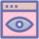 eye, visualization, web page, web site, web visibility icon