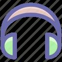 ear buds, ear cable, earphone, earpiece, headphone with mic icon