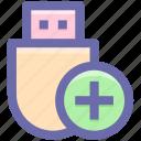data saver flash, data stick, disk device, flash, flash drive, usb icon