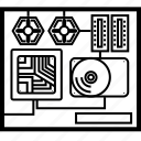 cpu, device, hardware, system, technology icon