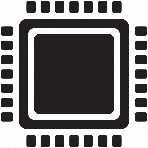 central processing unit, cpu, microchip, processor icon