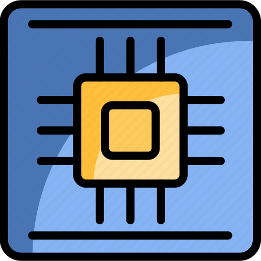 center, chip, computer, cpu, hardware, processor, technology icon