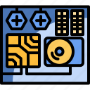 computer, cpu, hardware, technology icon