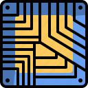 chip, computer, cpu, hardware, technology icon