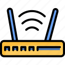 hardware, internet, router, wifi, wireless icon