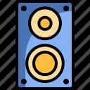 audio, hardware, music, sound, speaker, technology icon