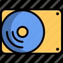 computer, external, hard disk, storage, technology icon