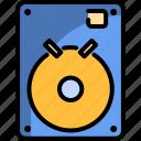 computer, hard disk, internal, storage, technology icon