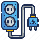 cable, electrical, plug, power, wire icon