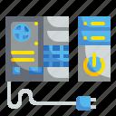 case, computer, hardware, server, tower icon