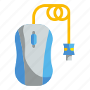 clicker, computer, electronic, hardware, mouse icon