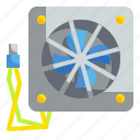 card, computer, electronic, fan, hardware icon