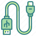 cable, connection, port, technology, usb icon