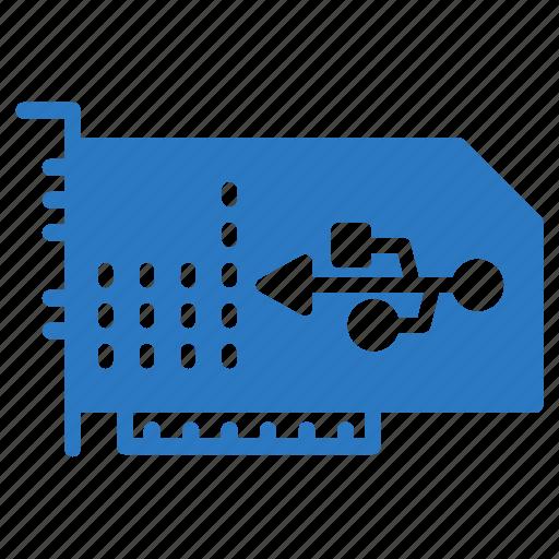 gpu, graphiccard, hardware, port, usb icon