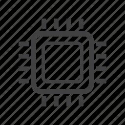 cpu, microchip, processor icon