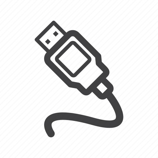 adapter, cable, usb icon