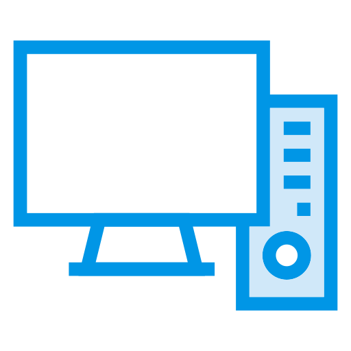 computer, desktop, electronic, monitor, pc, screen, technology icon