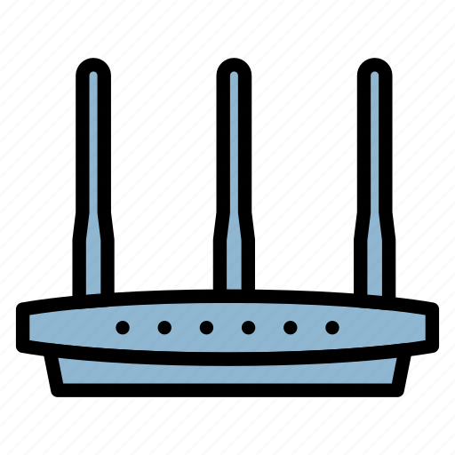 computer, hardware, modem, router, wifi icon
