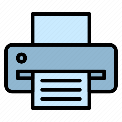 computer, device, hardware, print, printer icon