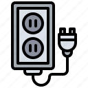 and, construction, electronics, plug, power, tools icon