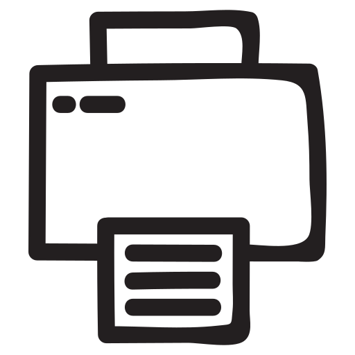 computer, document, electronics, equipment, print, printer, printing icon