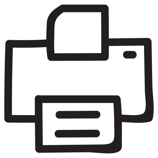 machine, outline, papper, photocopy, print, printer, printsetting icon