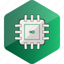 computer, cpu, device, hardware icon, hexagon icon