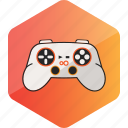 computer, device, gamepad, hardware icon, hexagon, joystick icon