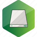 computer, device, harddisc, hardware icon, hdd, hexagon icon