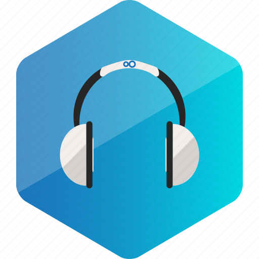 computer, device, hardware icon, headphone, hexagon icon