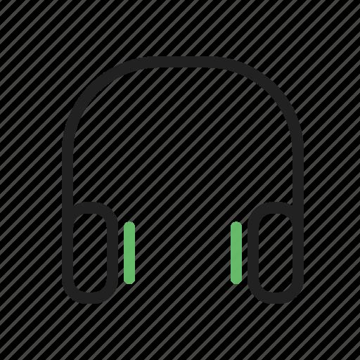 audio, headphones, mp3, music, sound, sterephone icon