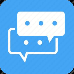 bubbles, communication, internet, messages, mobile, phone icon