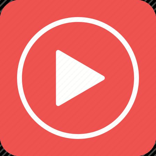arrow, multimedia, play, player, run, video icon