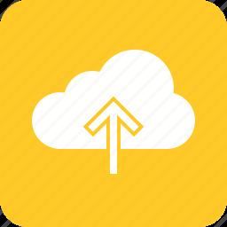 arrow, data, internet, navigation, upload, web icon
