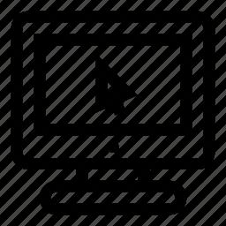 computer, cursor, display, monitor, pointer, screen, target icon