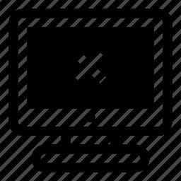 computer, delete, display, erase, monitor, remove, screen icon