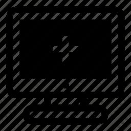 add, computer, display, monitor, more, plus, screen icon