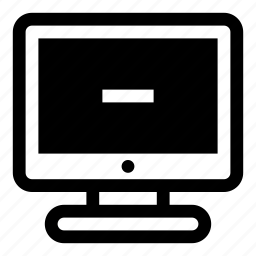 computer, delete, display, minus, monitor, remove, screen icon