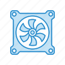 computer, cooler, cooling, fan, pc icon