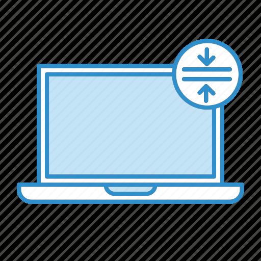 bezel less, laptop, notebook, thin icon