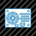 electric, hardware, power, psu, supply icon
