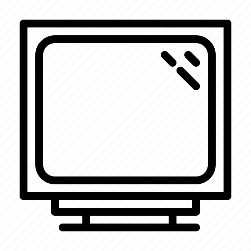 computer, crt, device, digital, electronics, hardware, monitor icon