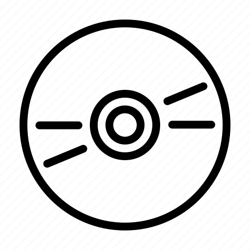 computer, device, digital, disc, electronics, hardware icon