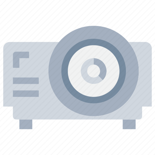device, office, present, presentation, projector, technology icon