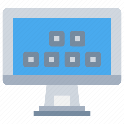 computer, device, display, smart, technology, tv icon